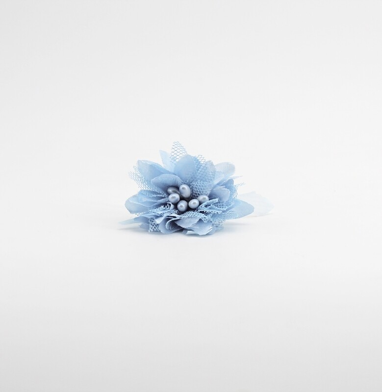 Applicazione fiore celeste dafne piccolo Pz. 12