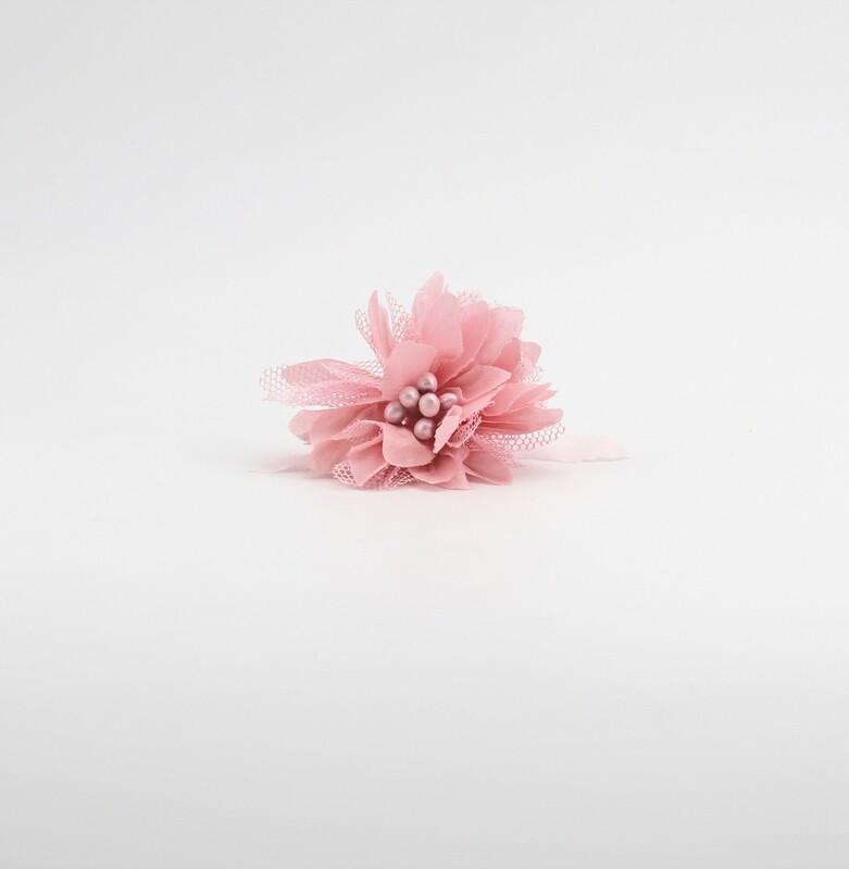 Applicazione fiore rosa dafne piccolo Pz. 12