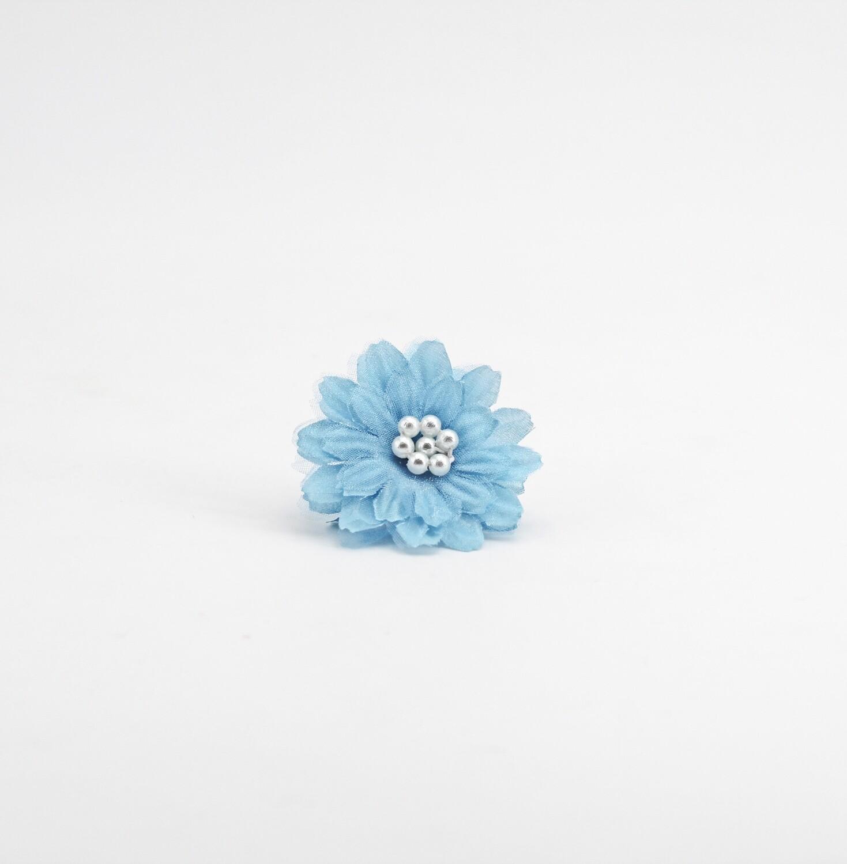 Applicazione fiore ninfea celeste piccola Pz. 12