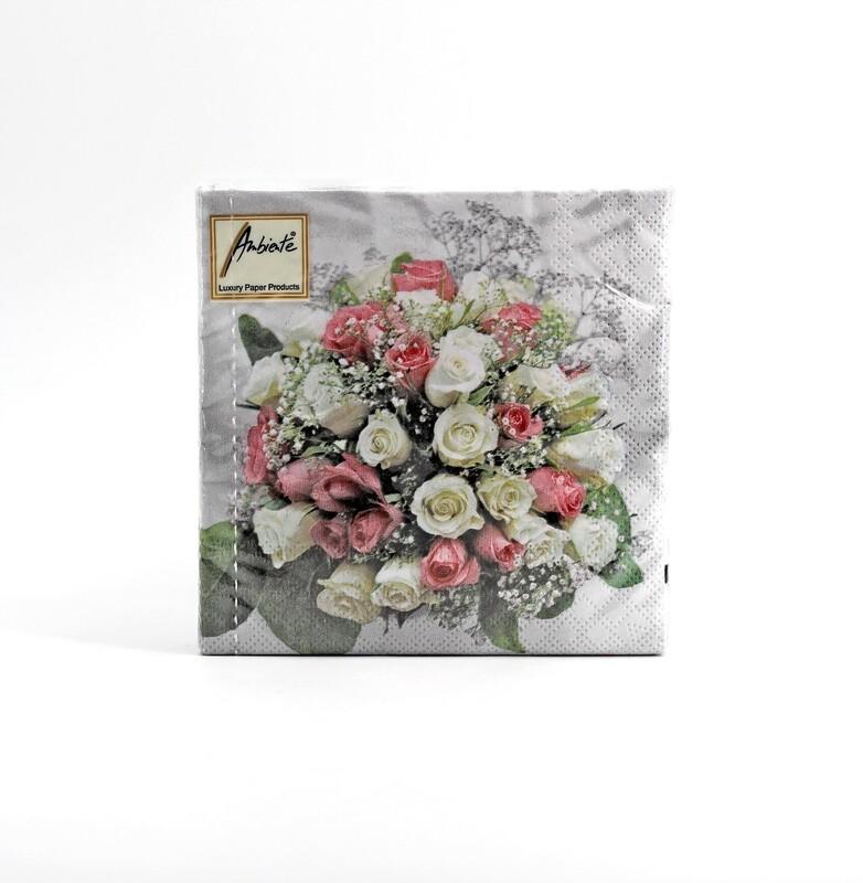 Tovaglioli per eventi wedding bouquet  Pz. 20