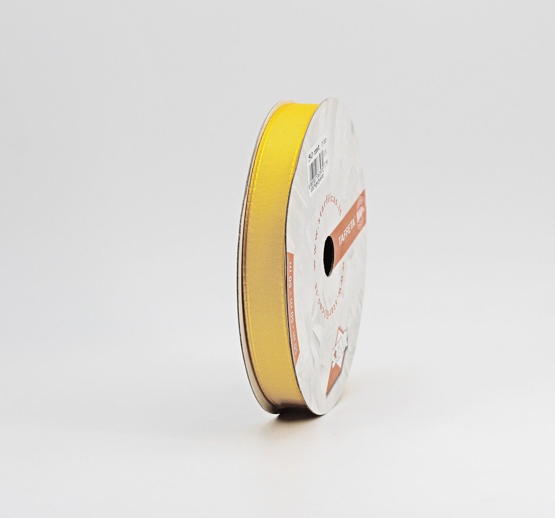 Nastro giallo ocra taffetà mm.15  Mt. 50