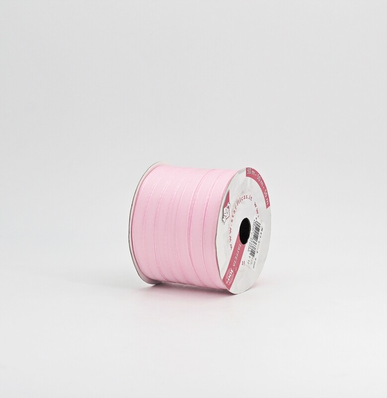 Nastro rosa taffetà mm.9 Mt. 50
