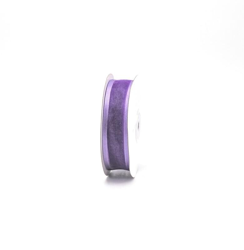 Nastro viola organza bordata mm. 25 Mt. 25