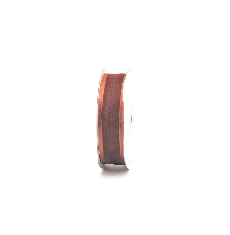 Nastro rame organza bordata mm. 25 Mt. 25