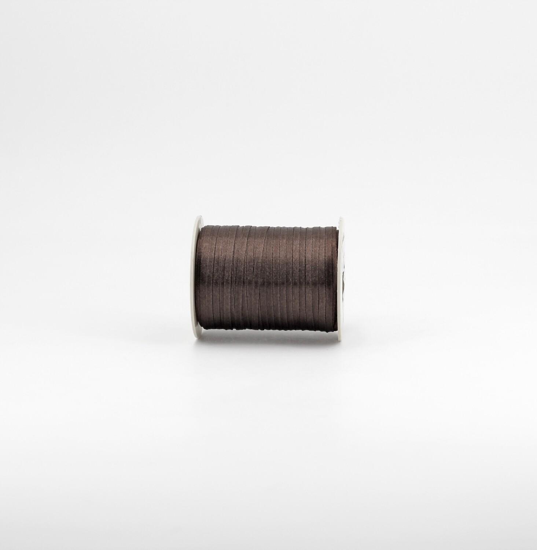 Nastro raso marrone mm.3 Mt. 100