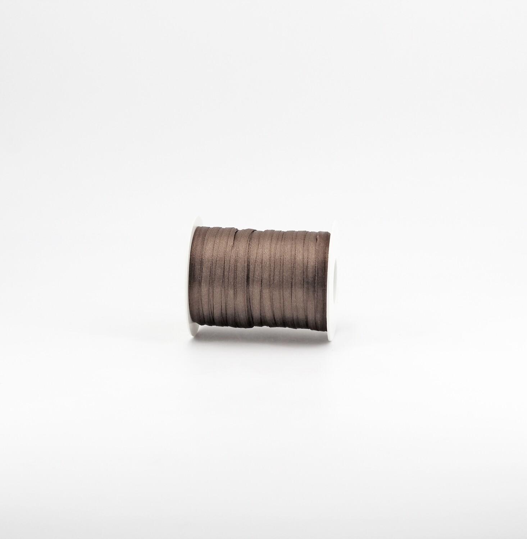 Nastro raso marrone chiaro mm.3 Mt. 100