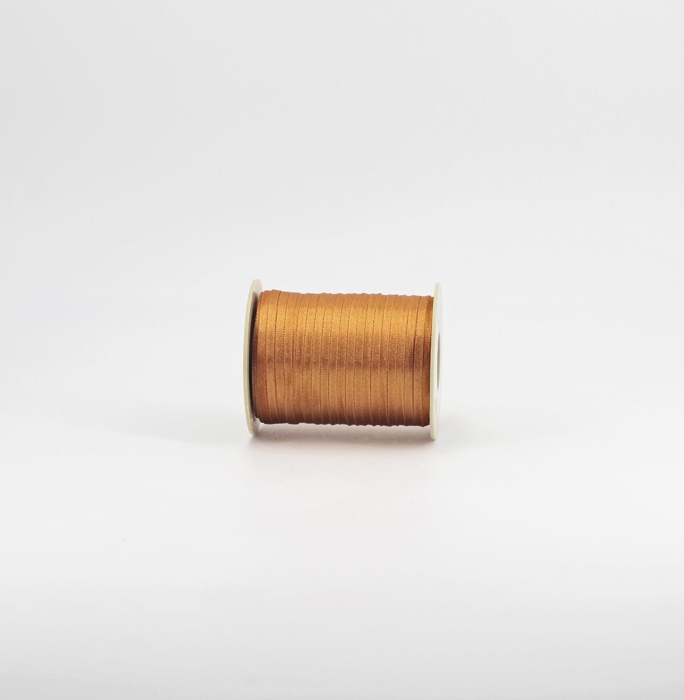 Nastro raso senape mm.3 Mt. 100