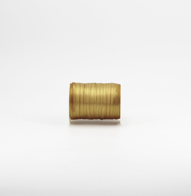 Nastro raso oro mm.3 Mt. 100