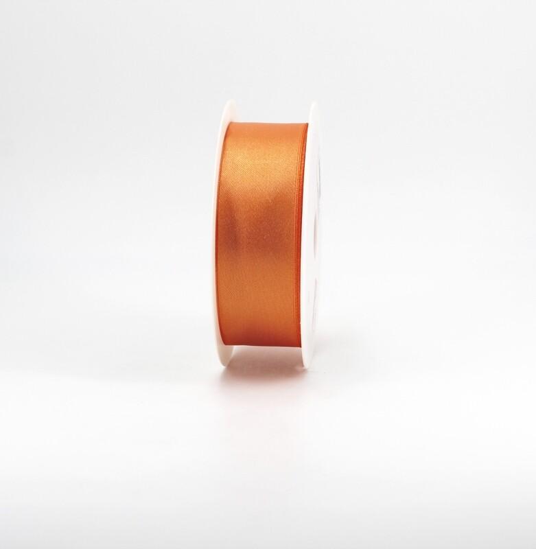 Nastro raso arancio mm.38 Mt.50