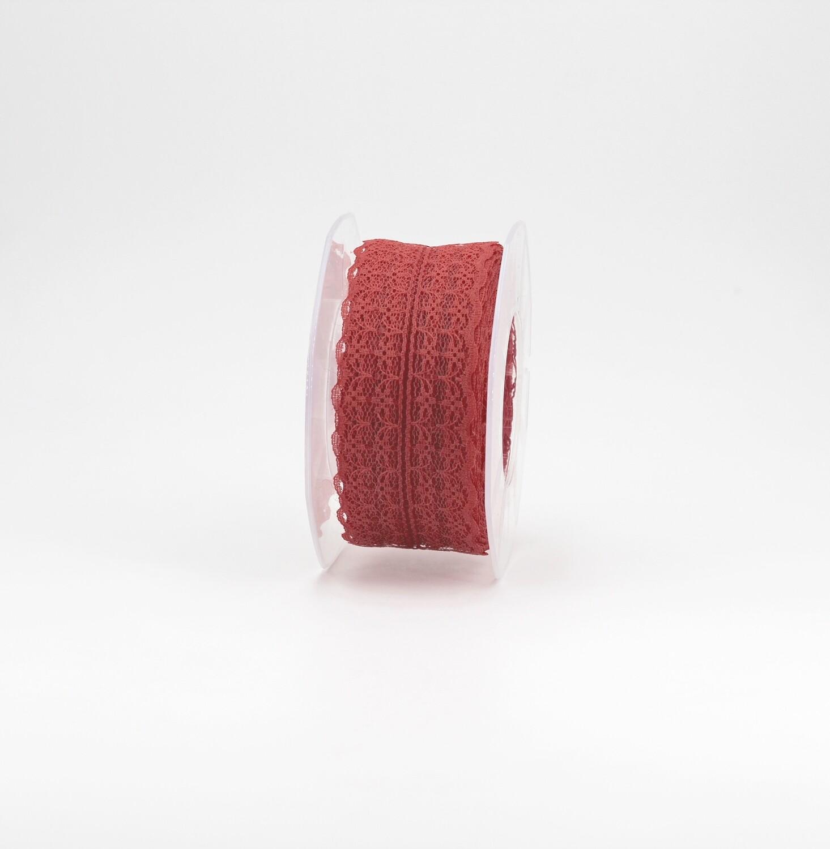 Nastro pizzo nylon rosso colore 31 mm. 42 Mt. 25