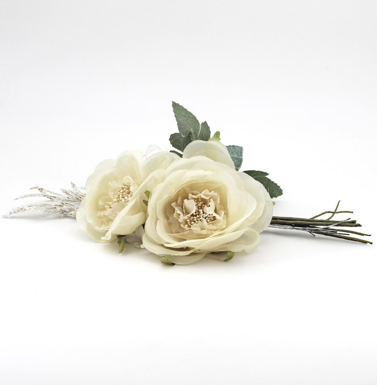 Applicazione pick 2 rose avorio Pz. 4