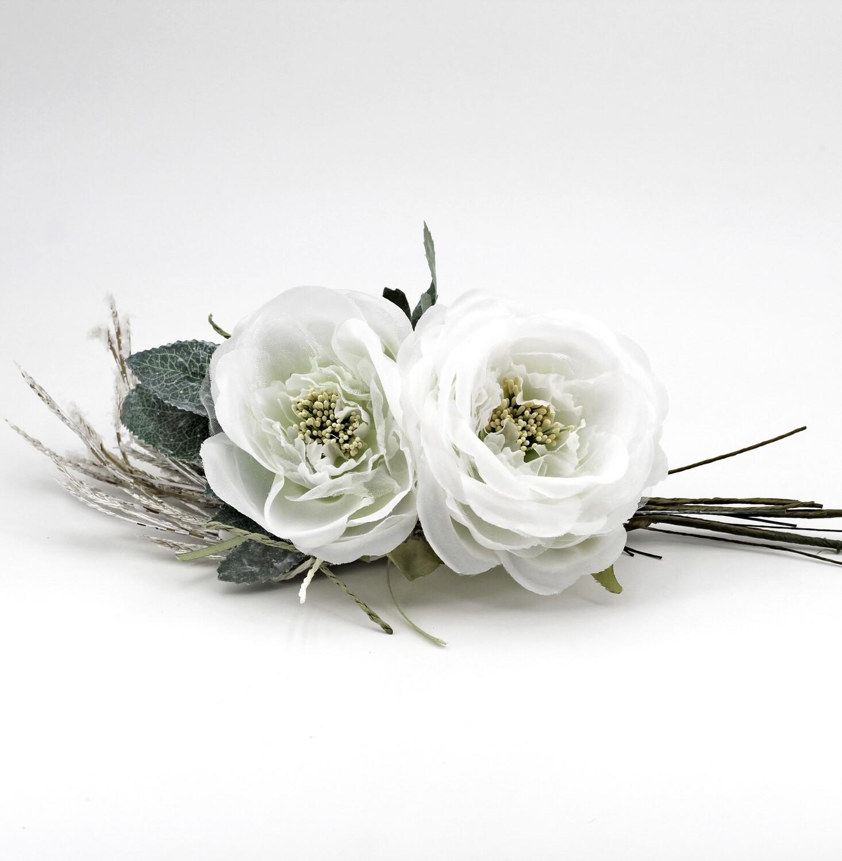 Applicazione pick 2 rose bianche Pz. 4