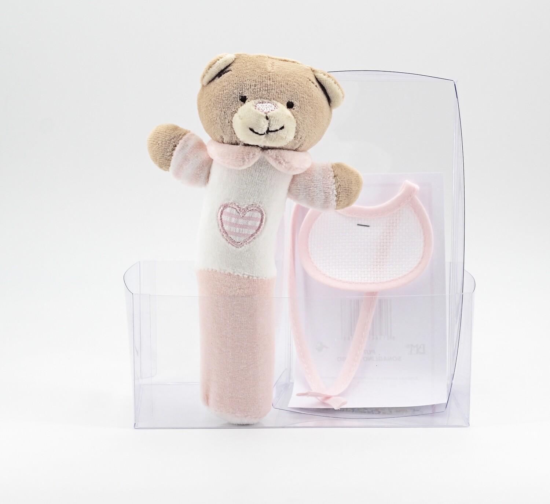 Sonaglio orsetto rosa a tubo  Pz. 1