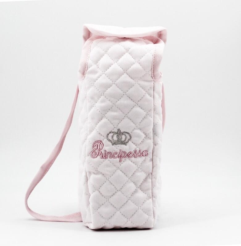 Portabiberon rosa principessa con manico Pz. 1
