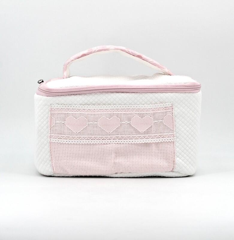 Beauty bianco e rosa idea ricamo Pz. 1