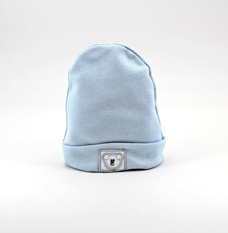 Cappellino in puro cotone celeste Pz. 1