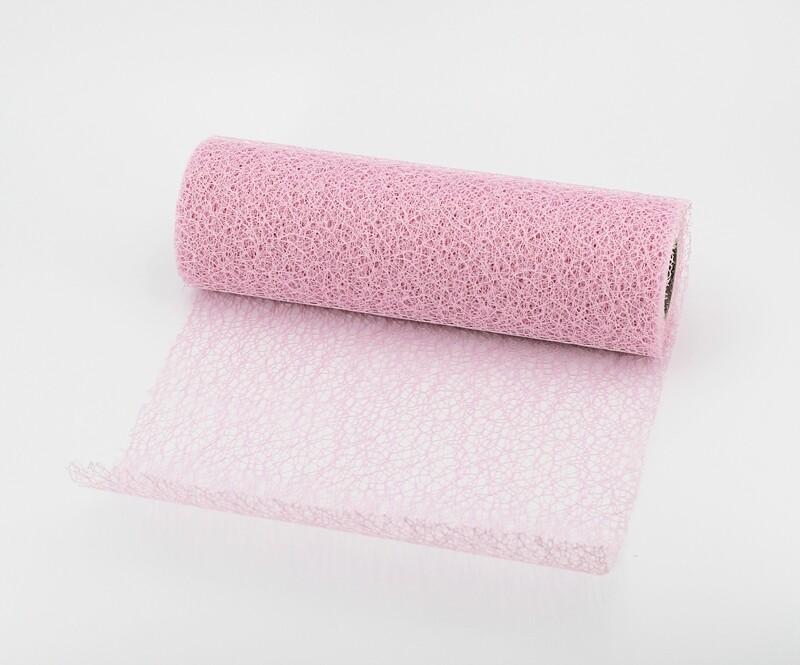 Nastro rete decorativa rosa colore 20 mm. 250 Mt. 10
