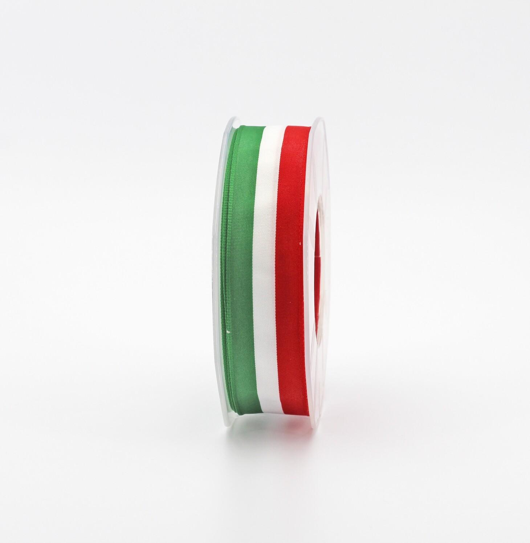 Furlanis nastro raso tricolore mm. 25 Mt. 25
