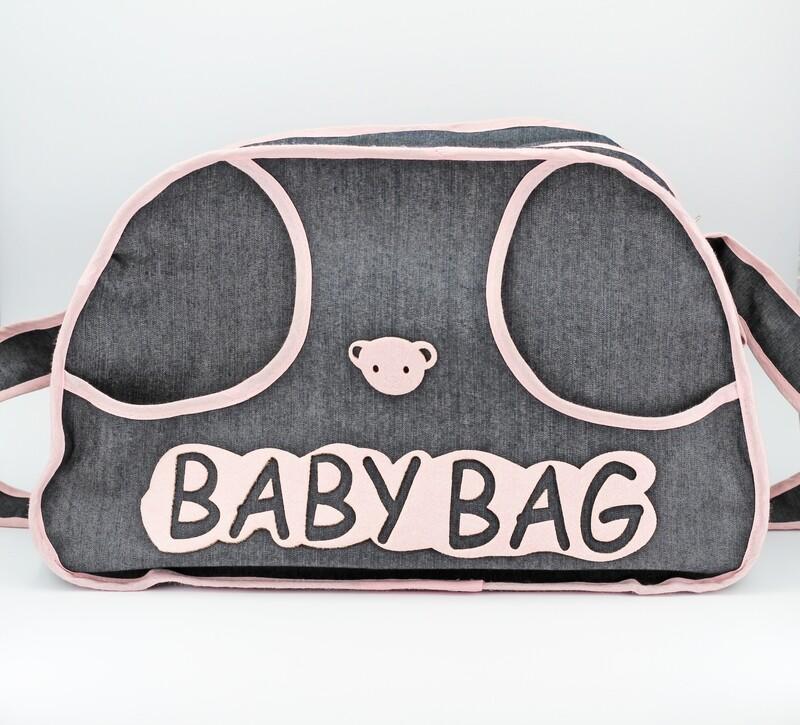 Borsa portaoggetti baby bag effetto jeans Pz. 1