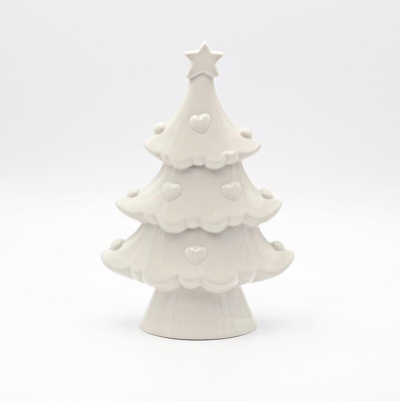 Bomboniera in ceramica albero bianco Pz. 1