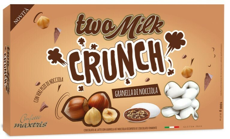 Maxtris Two Milk crunch granella di nocciola Pz.1