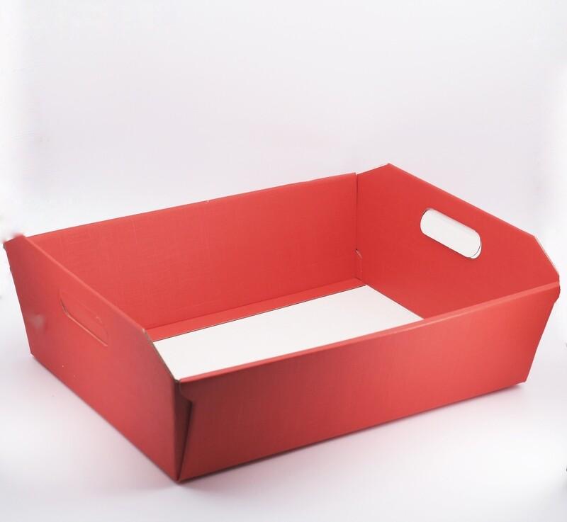 Scatolo cesto seta rosso grande Pz. 1