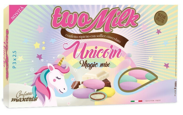 Maxtris Two Milk unicorn magic mix gusto classico Pz.1