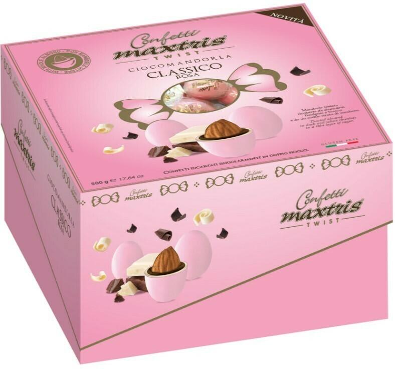 Cadeaux Twist Ciocomandorla Maxtris Classico Rosa gr. 500