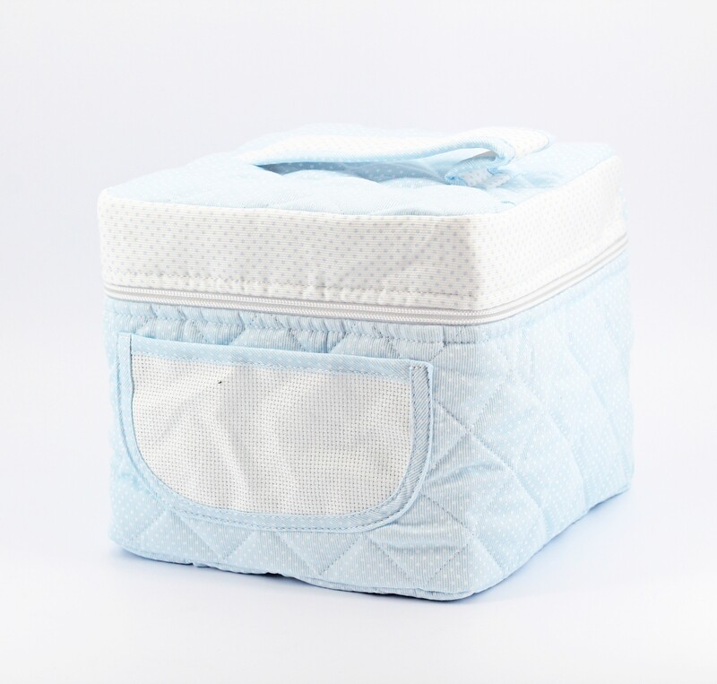 Beauty celeste per neonato con interno plastificato Pz. 1