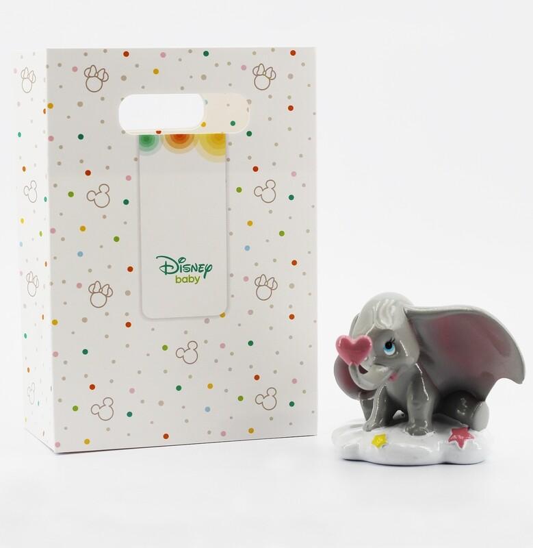 Dumbo bomboniera rosa con shopper Pz.1