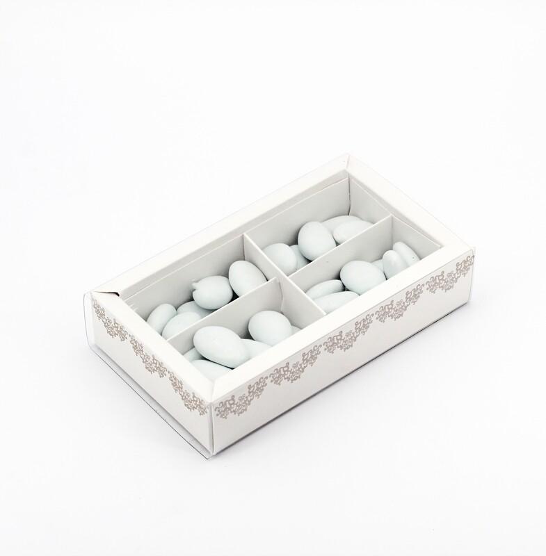 Scatolo quadrato bianco con fascina più inserto Pz. 10