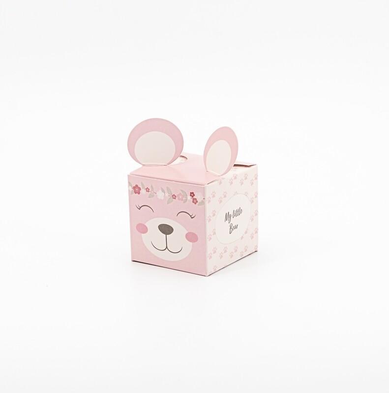 Scatolo cubo rosa pon pon Pz.10