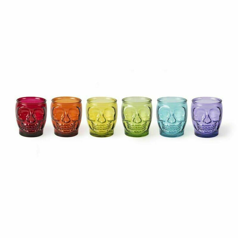 Bicchieri assortiti calavera cl. 40  Pz.6