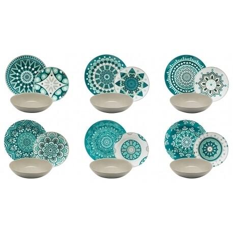 Excelsa Mandala Servizio piatti da tavola 18 pezzi
