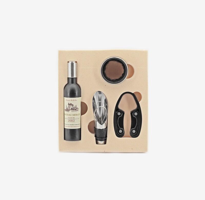 Bomboniera set accessori vino Pz. 1