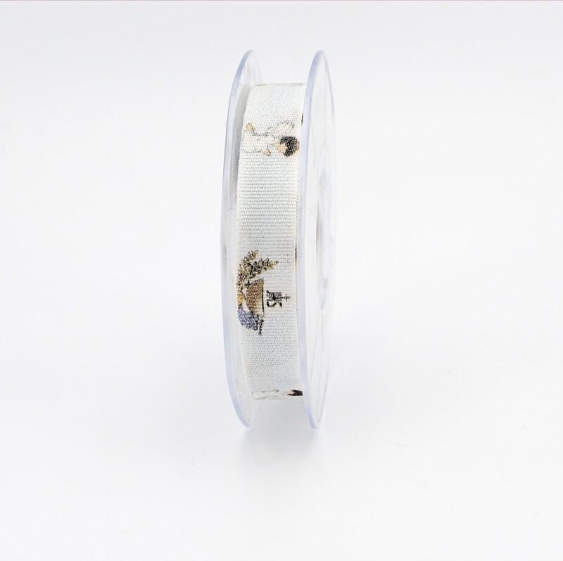 Furlanis nastro in cotone collezione digitale comunione mm. 15 Mt.15