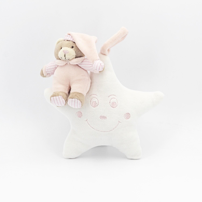 Sopraculla stellina con orsetto rosa Pz. 1