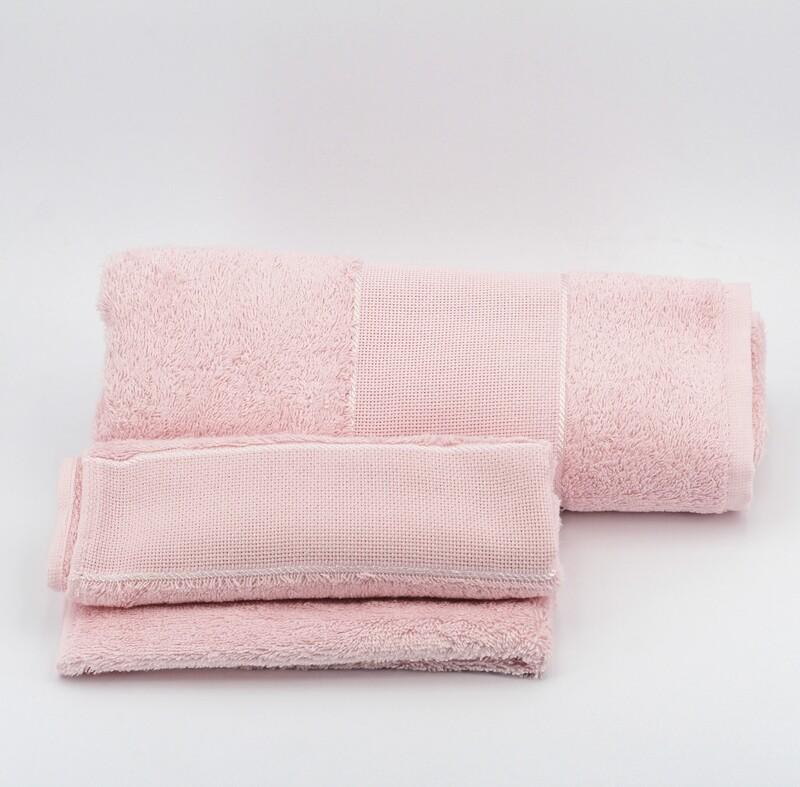 Set asciugamani da bagno rosa Pz. 1