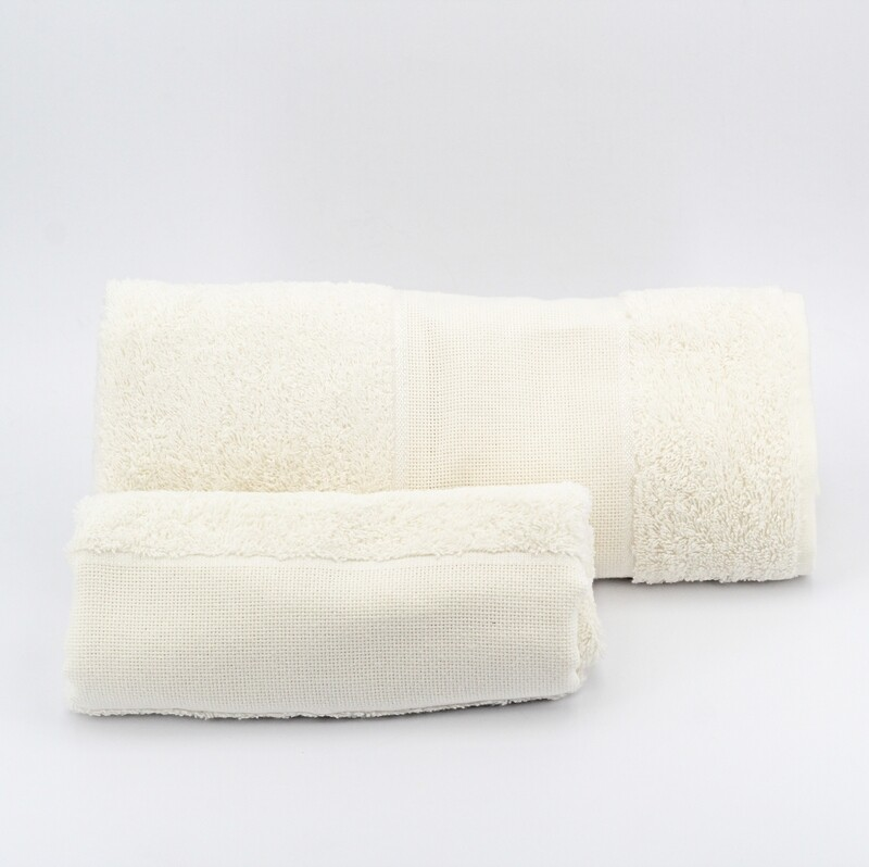 Set asciugamani da bagno avorio Pz. 1