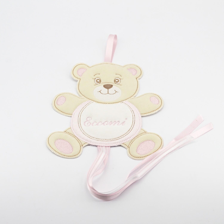 Sopraculla orsetto eccomi rosa Pz. 1