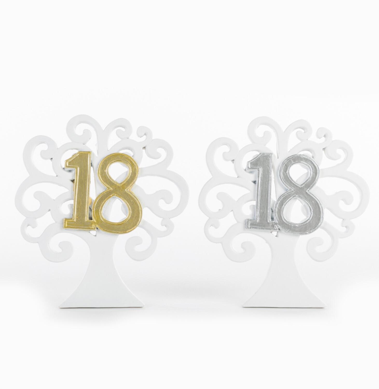 Bomboniera alberello diciottesimo compleanno Pz. 4