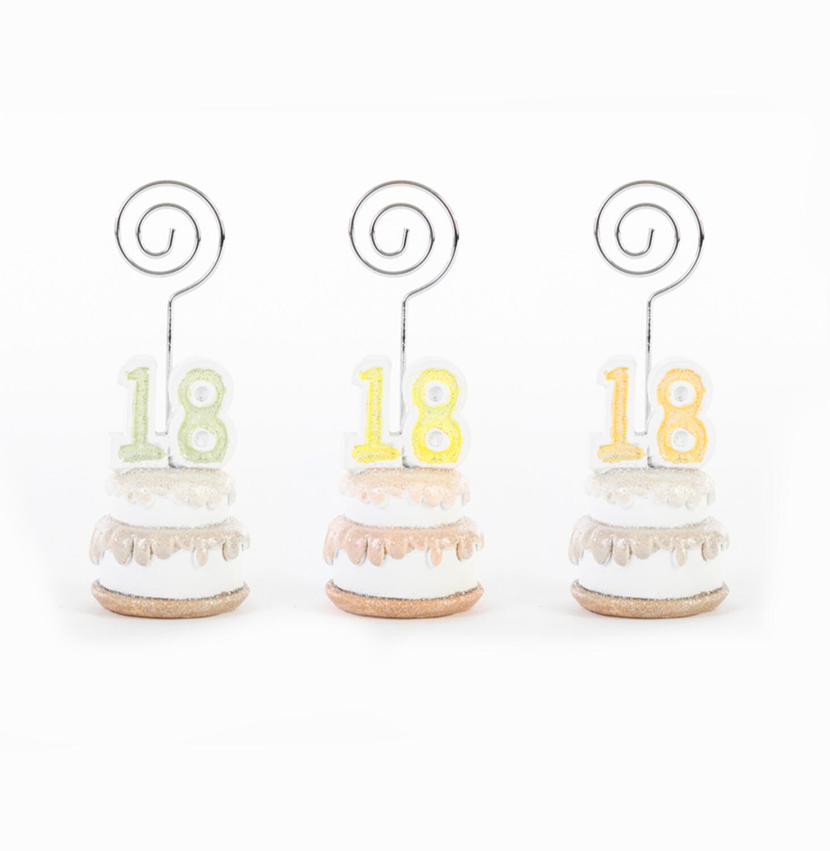 Bomboniera segnaposto torta diciottesimo compleanno Pz. 12