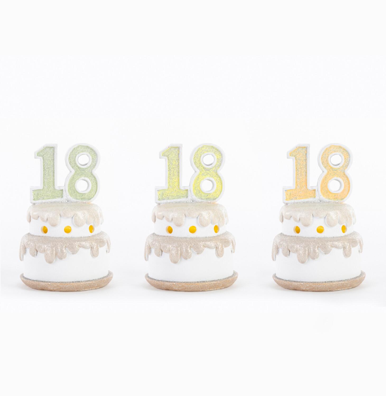 Bomboniera con led torta diciottesimo compleanno Pz. 3