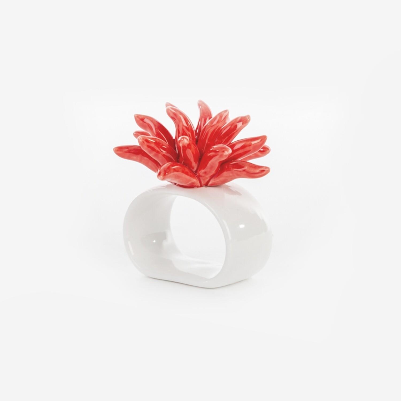 Bomboniera portatovaglioli corallo Pz. 6
