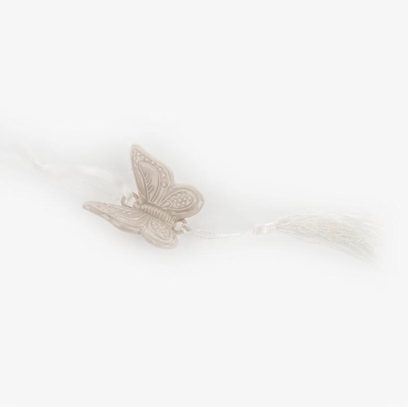 Bomboniera farfalla tortora con calamita Pz. 12
