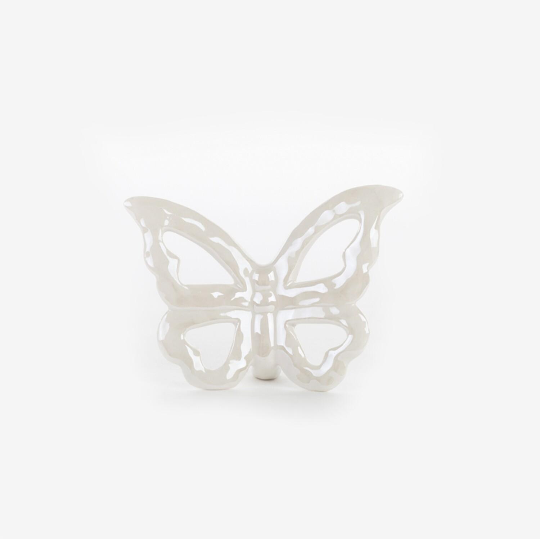 Bomboniera farfalla in porcellana bianco perla Pz. 6
