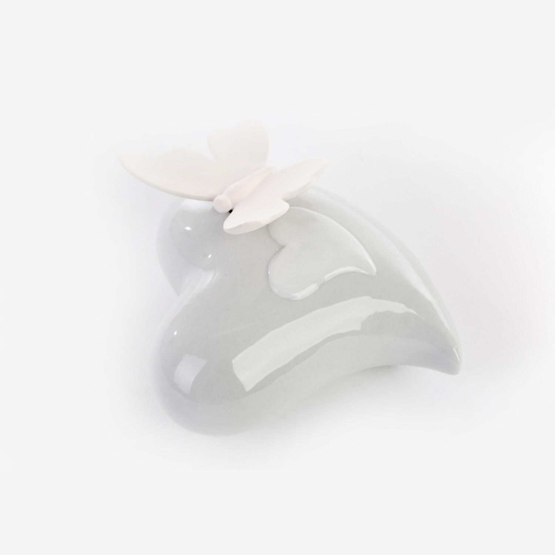 Bomboniera profumatore cuore con farfalla Pz. 1