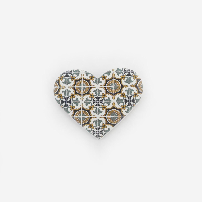 Bomboniera mattonella cuore decorazione barocco Pz. 4