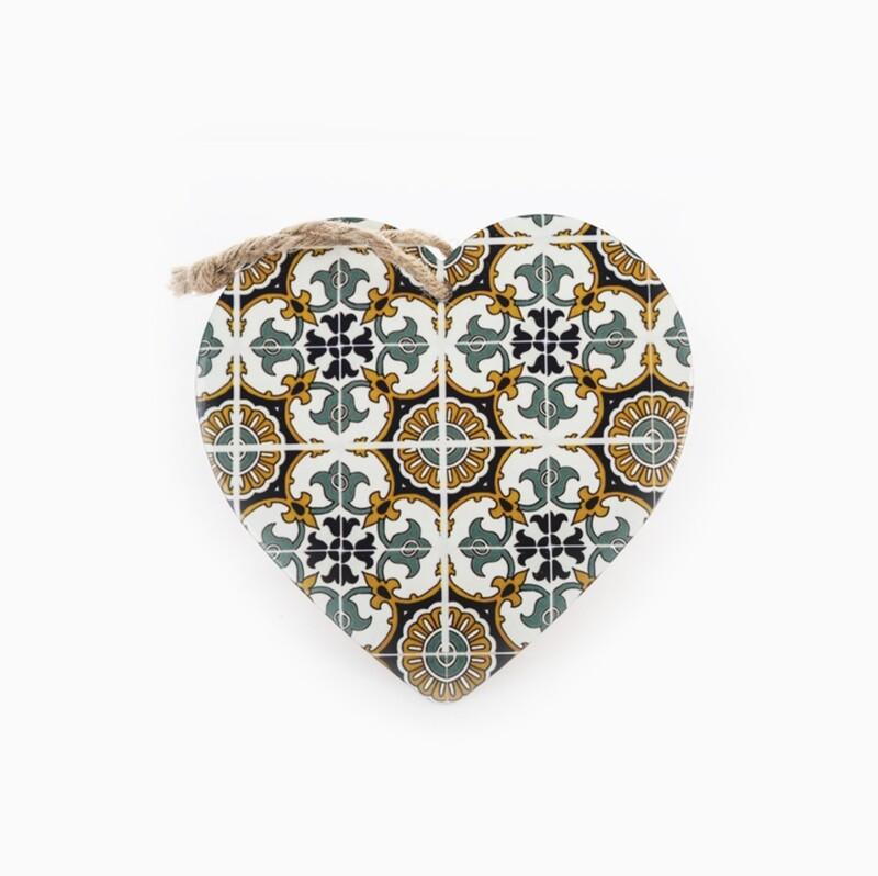 Bomboniera mattonella cuore decorazione barocco Pz. 1