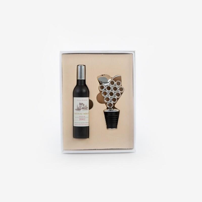 Bomboniera set due pezzi accessori vino Pz. 1
